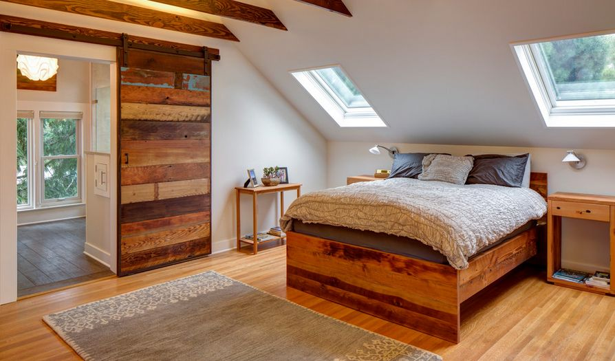 Make an interior barn door look natural