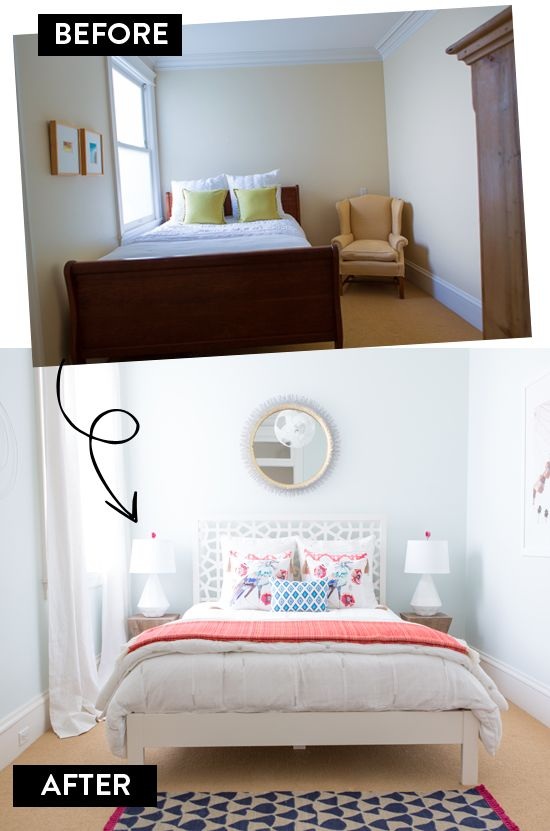 Mix and match bedroom makeover