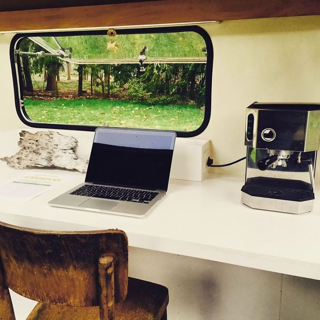Mobile Home Office Design Desk