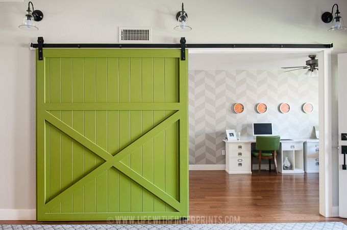 Modern Green Barn Door DIY