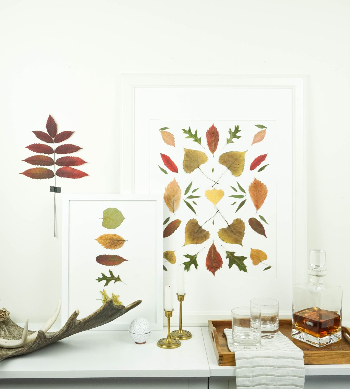 Modern autumn leaf art