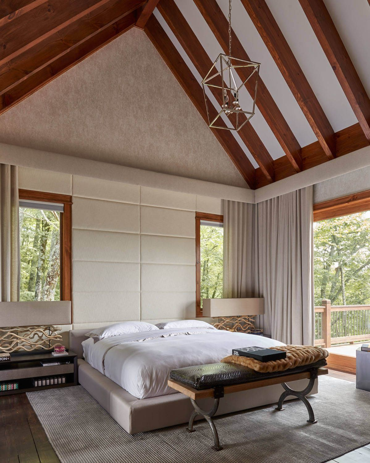 bedroom ceiling. Modern bedroom with a platform bed and vaulted ceiling Vaulted Ceilings  A Twist on Classic Architecture