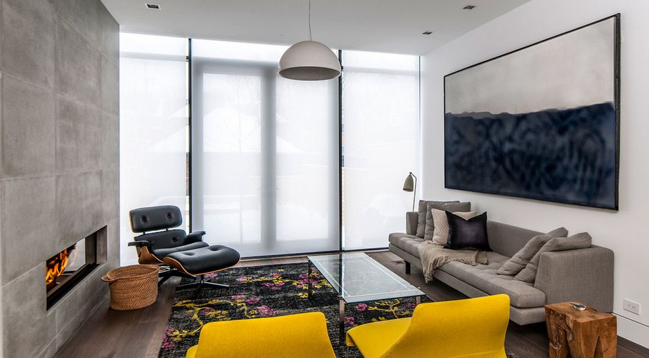 This Is A Fantastic Modern Space, With The Colorful Pop Coming From The Rug,