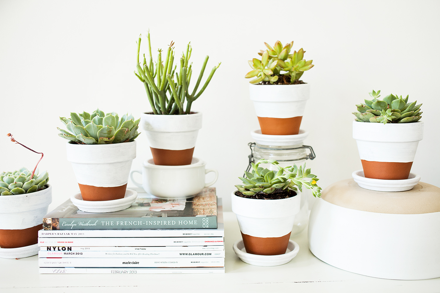 Modern painted pots