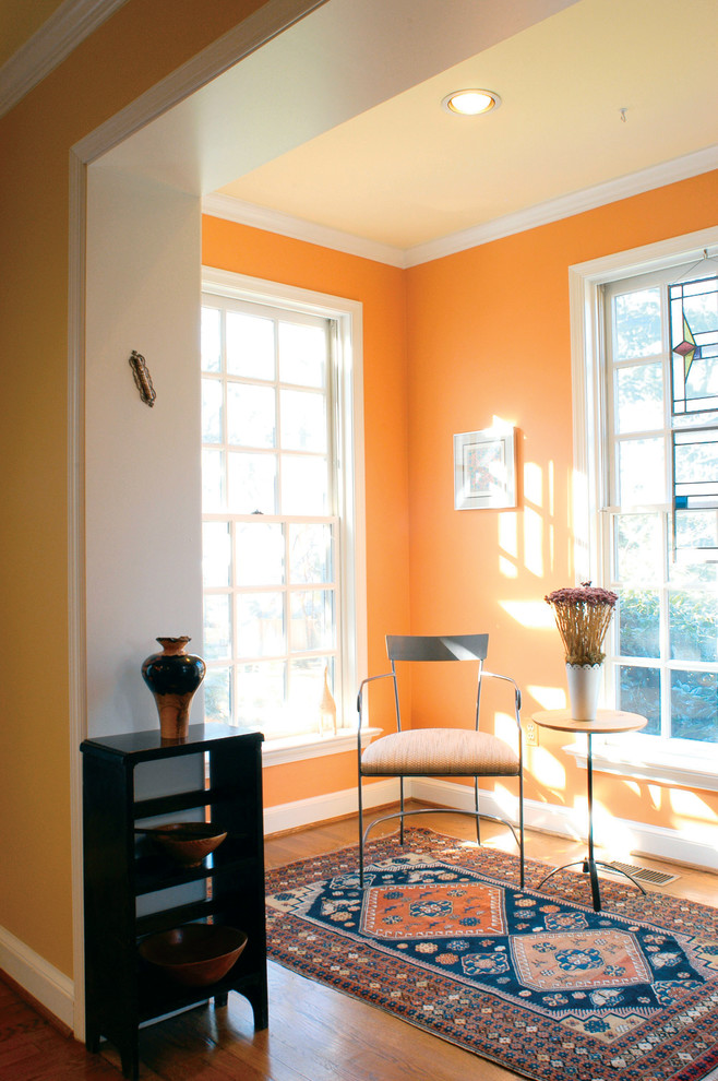 Orange and navy decor