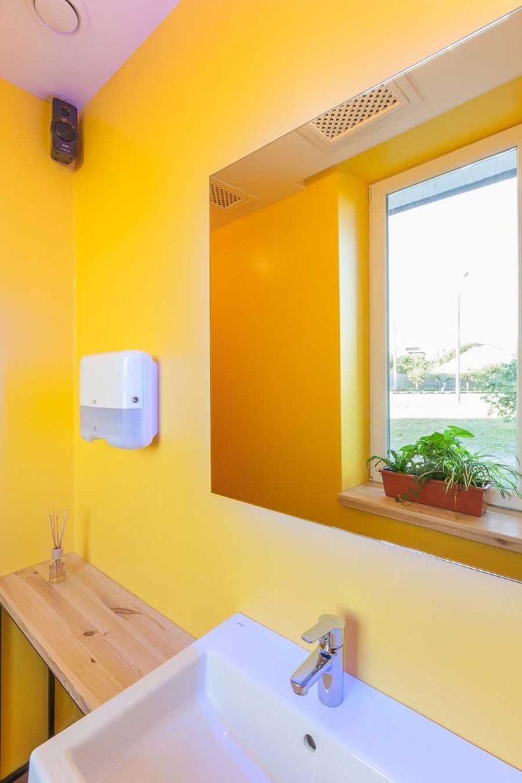 Penka coffee bar bathroom minimalist interior