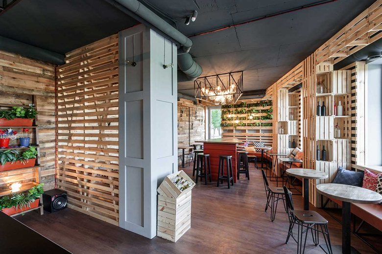 The Coffee Bar That Makes You Feel At Home Using Wine Crates on home interior design site, home basement bar designs, home bar wine rack designs, home bar interior design,