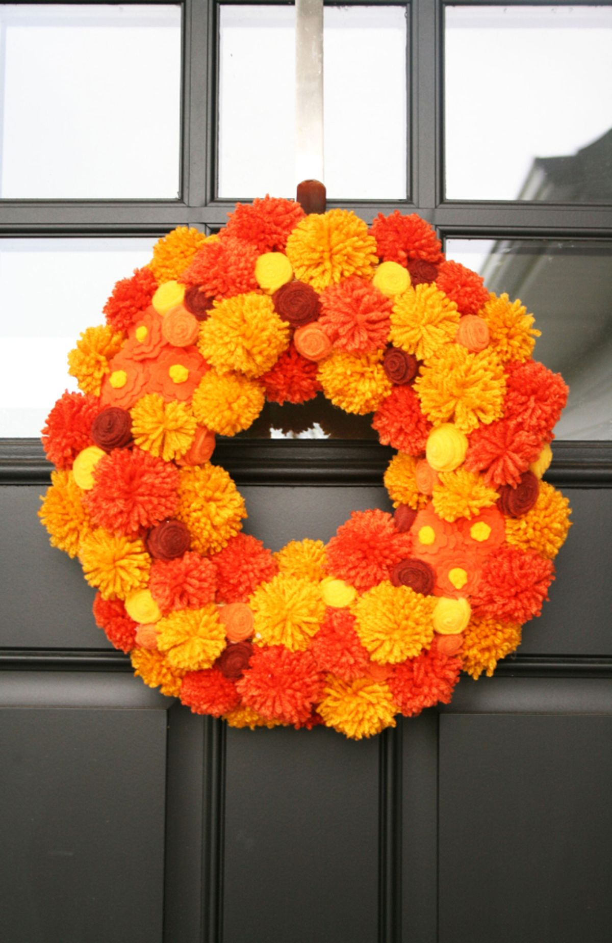 Pom Pom Power Wreath