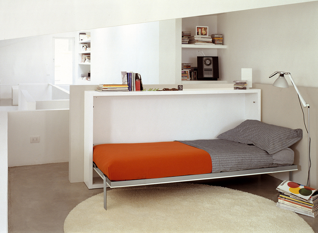 Bed desk combos save space and add interest to small rooms for Portable bed ideas