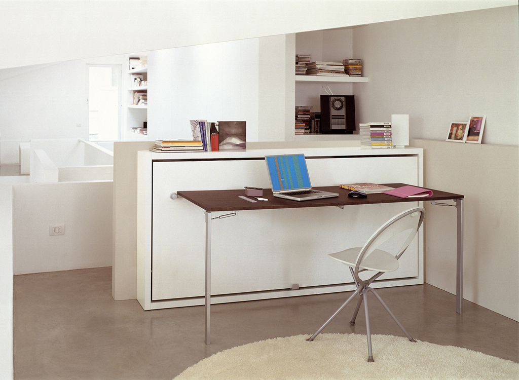 desk closed only hidden with hiddenbed bed wallbed euro murphy product vertical