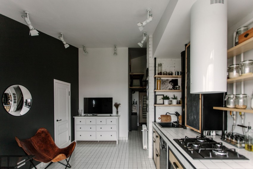 Renovated Moscow apartment buro5 kitchen recreation area