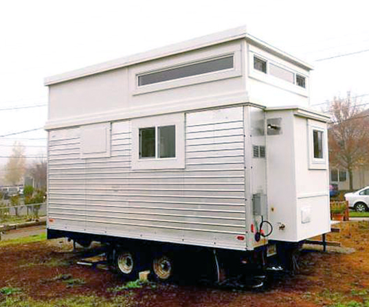 Salvaged trailer into an elegant tiny home1