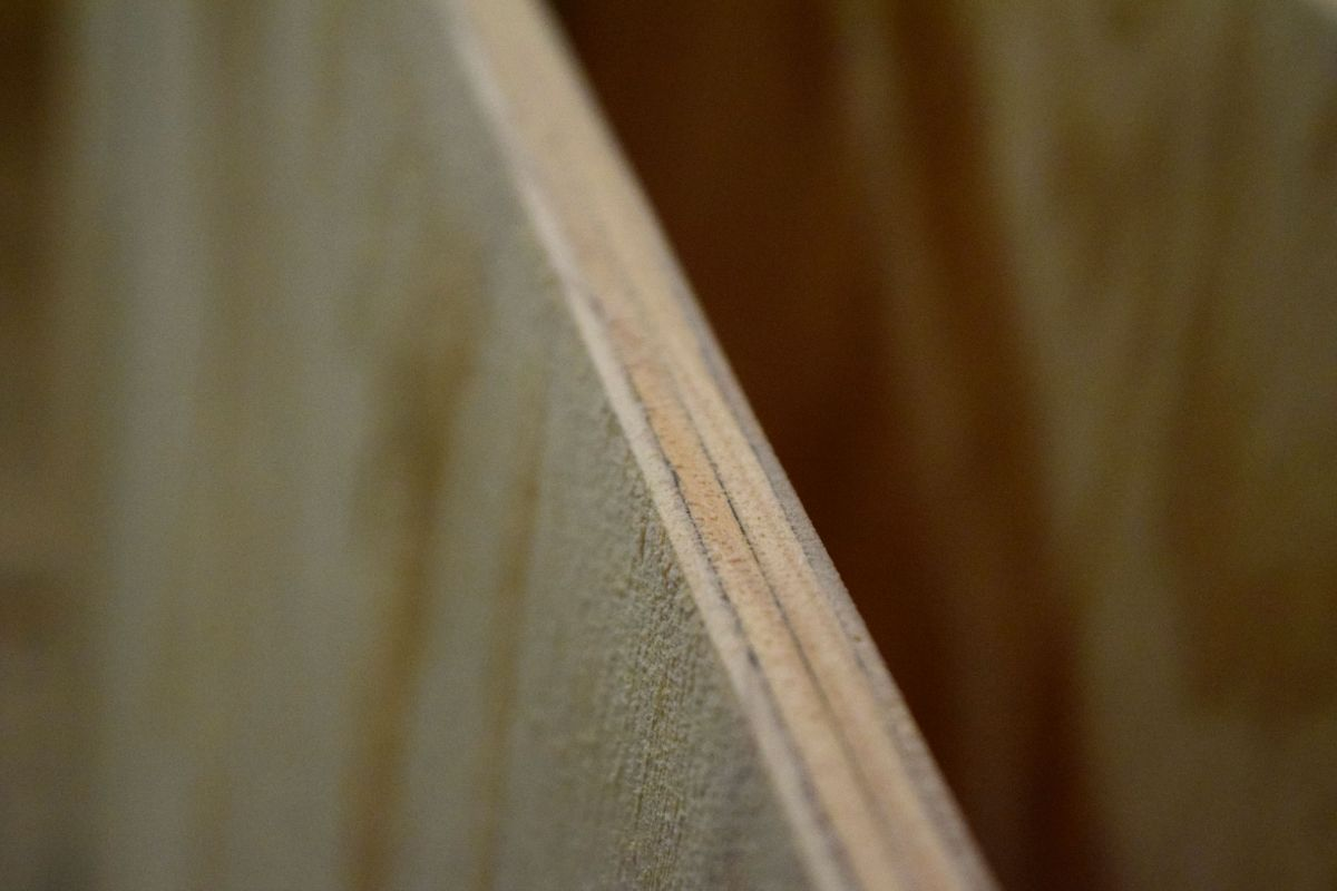 Sanded down edge