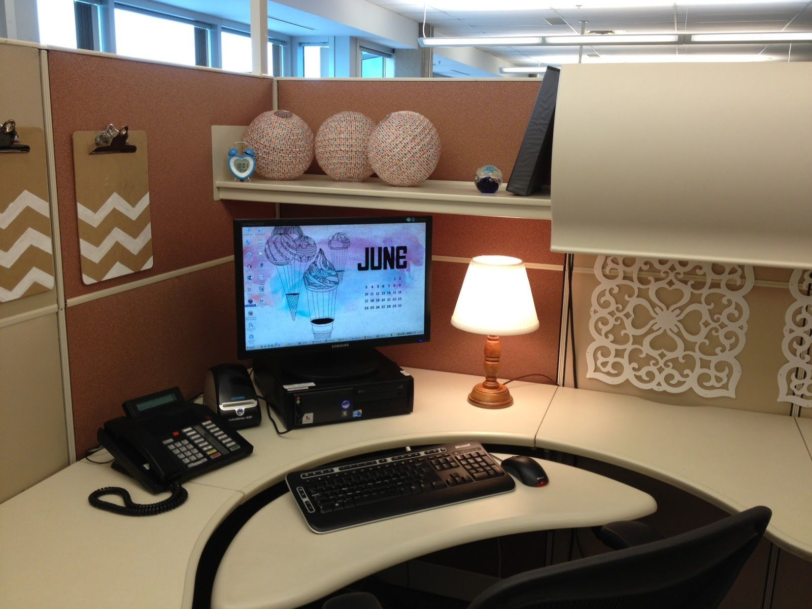 shelf for your cubicle decor - Cubicle Design Ideas
