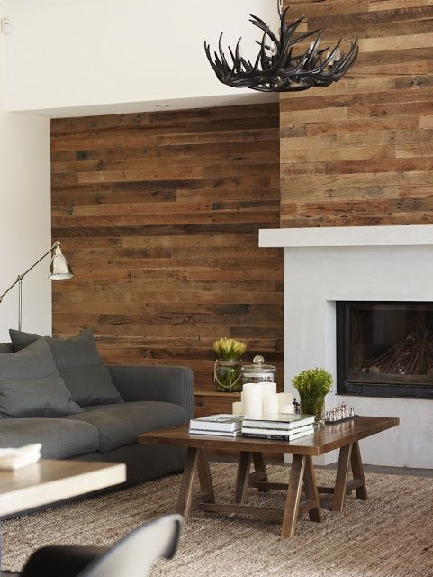 Simplified fireplace design
