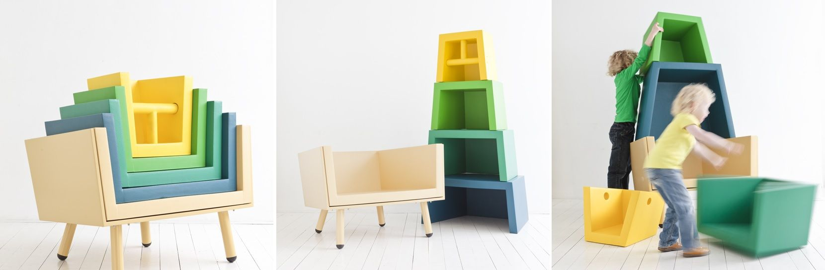 Stacking Throne High Chair Colorful