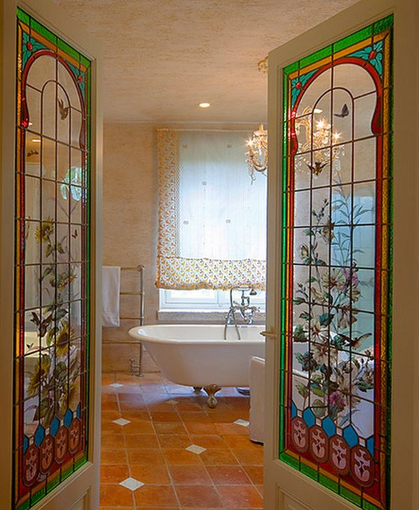 Stained bathroom glass doors. Your Best Options When Choosing A Bathroom Door Type