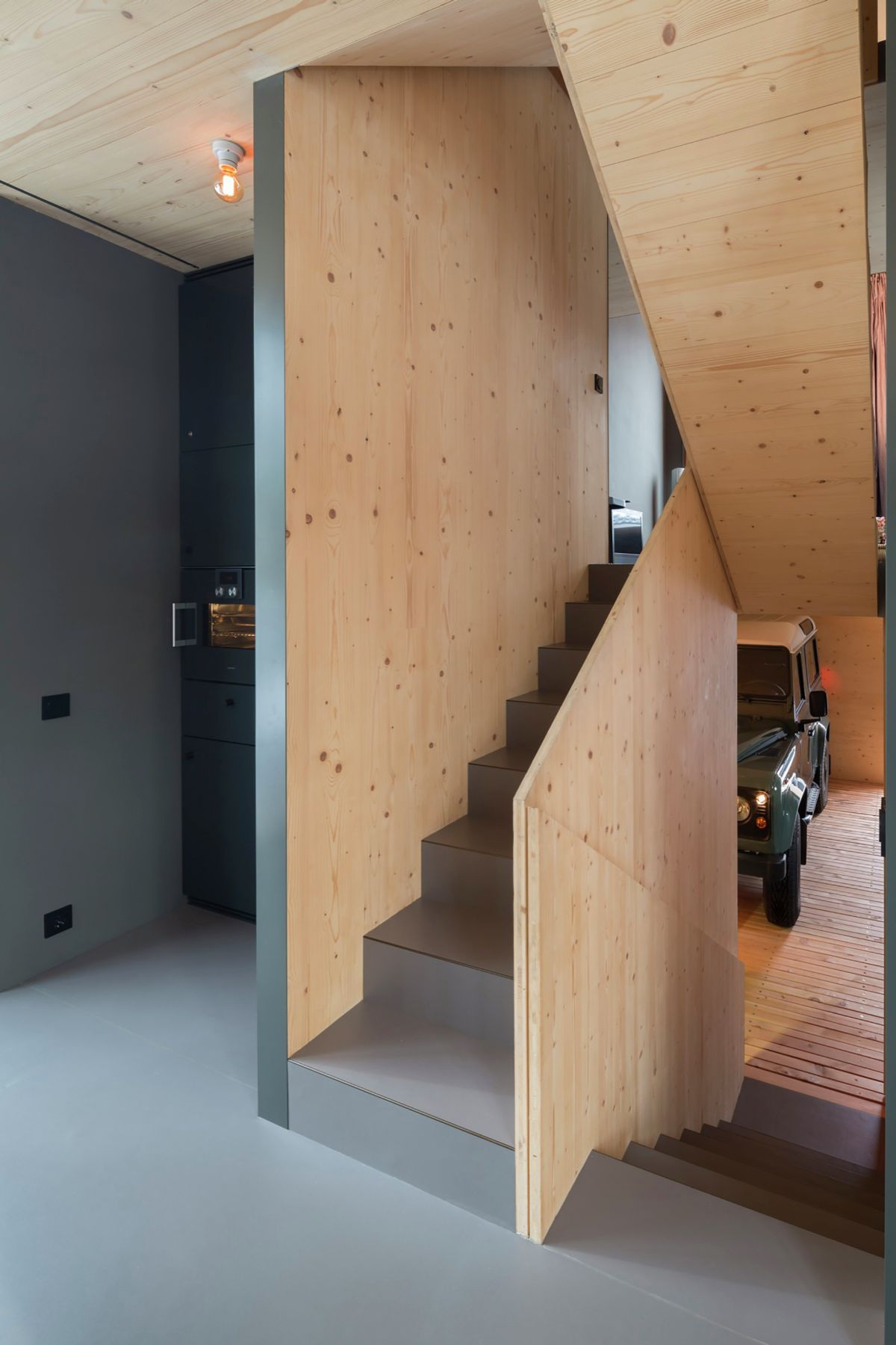 Stairs from Garage To Living
