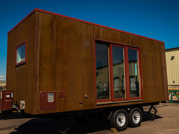 Steel tiny house in wheels1