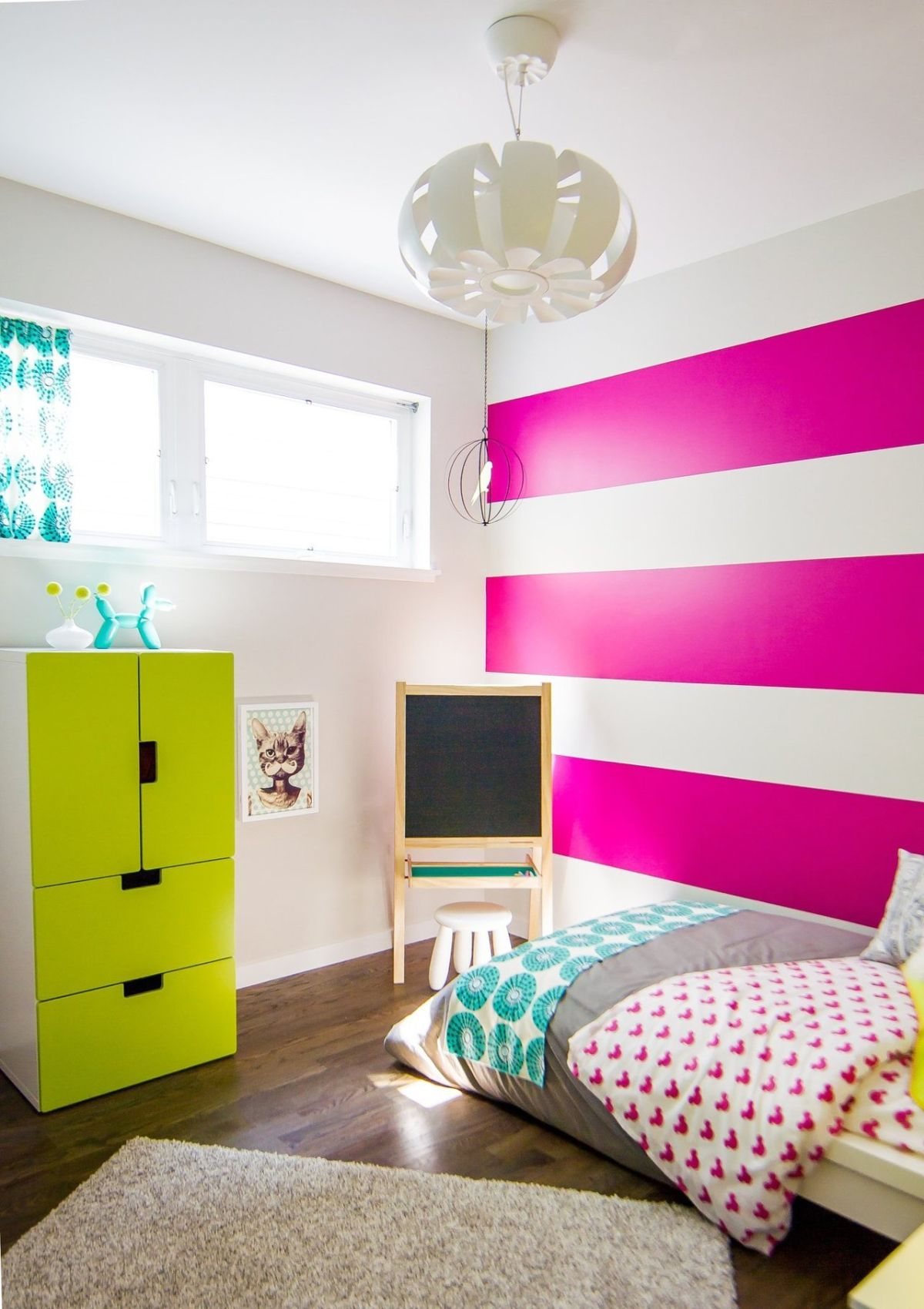 Striped Fuchsia Teenage Room Part 83