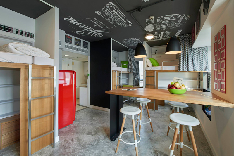 Student apartment in Hong Kong social area