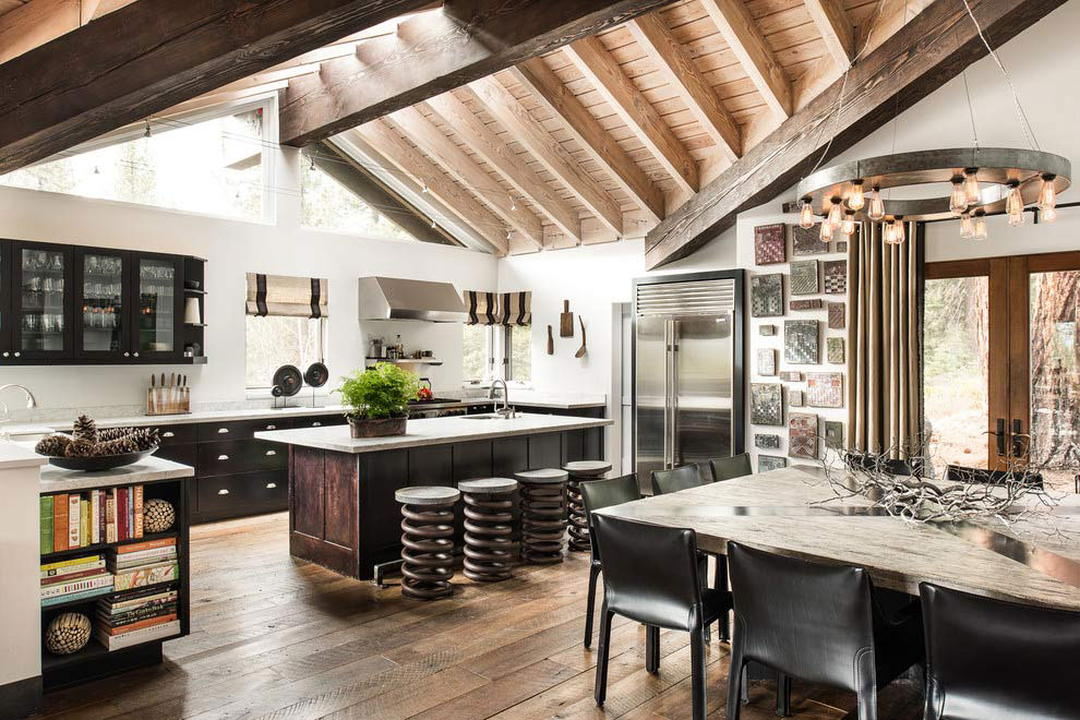 Tahoe ski retreat kitchen island