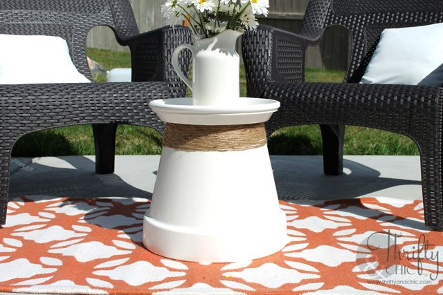 Terracotta pot coffee table