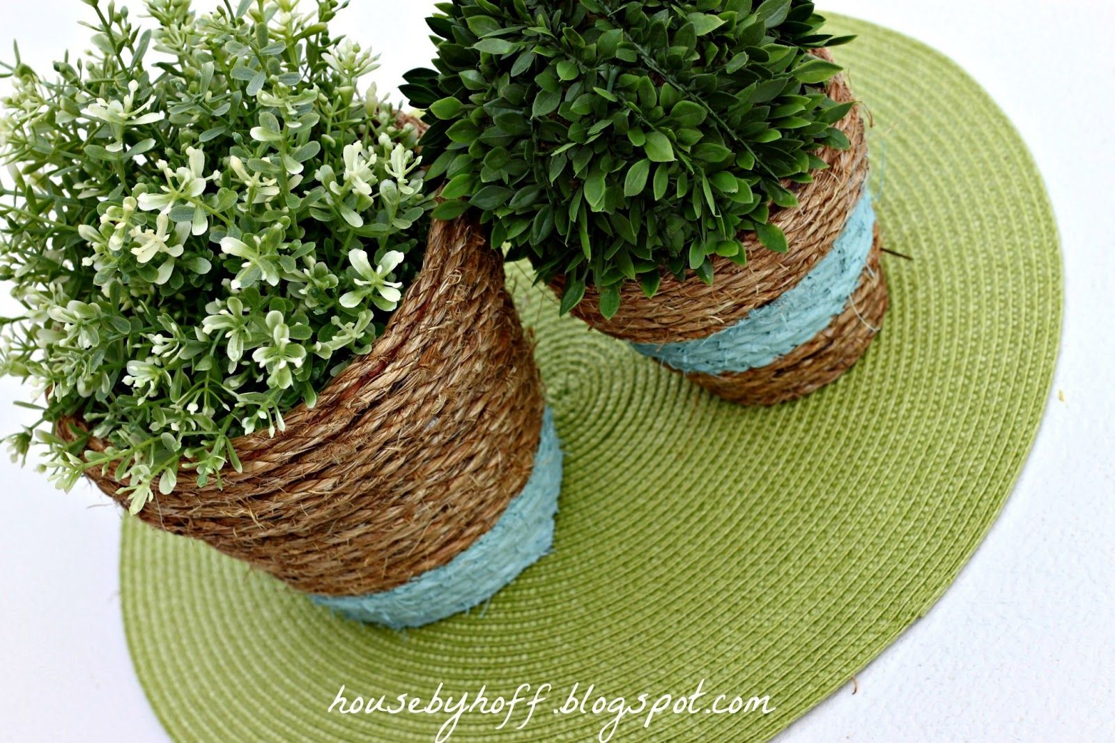 Terracotta pots Rope wrapped