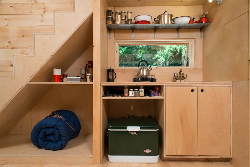 Test-Driving Tiny House Living Custom compact kitchen