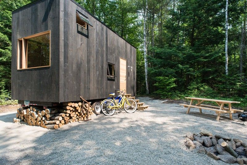 Test-Driving Tiny House Living Parked