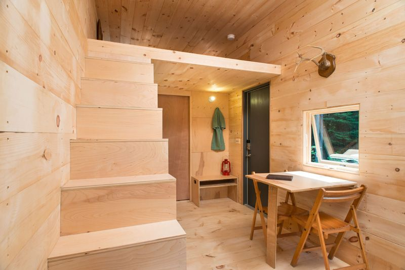 Test-Driving Tiny House Living stairs