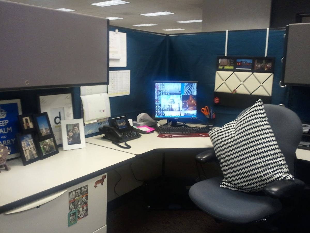 ideas for decorating office cubicle. 5. Throw In A Throw Pillow. Ideas For Decorating Office Cubicle