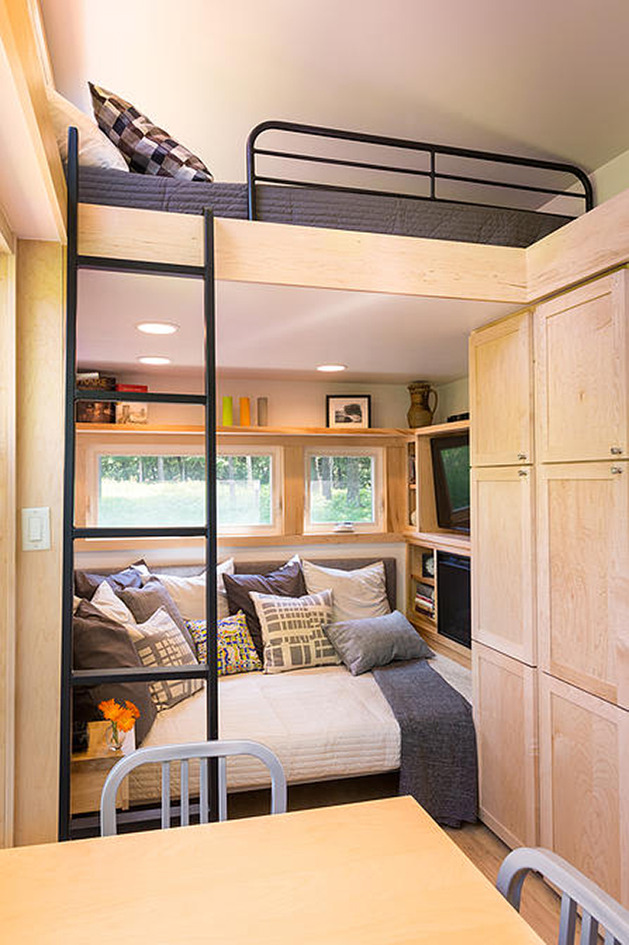 tiny home on a trailer two beds - Tiny House Trailer Interior