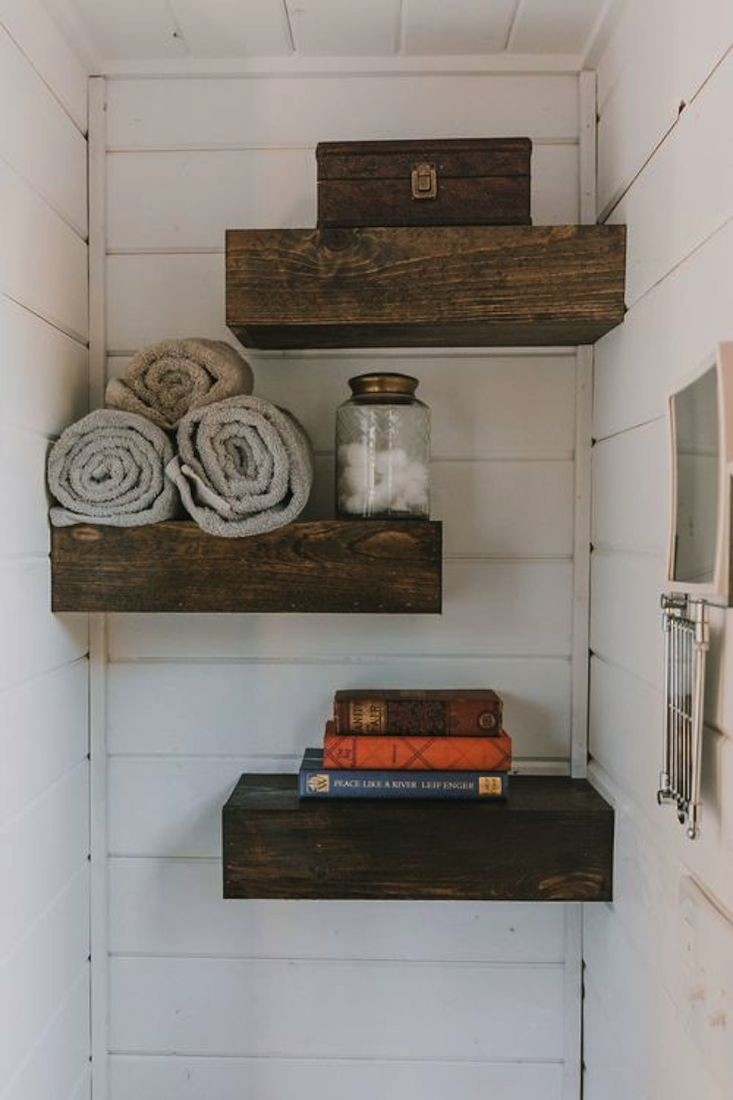 Tiny Luxe House on Wheels Shelves