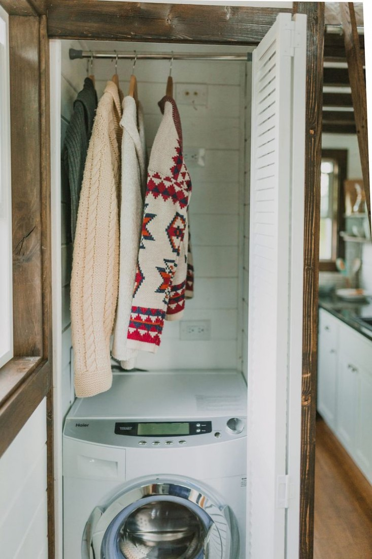 Tiny Luxe House on Wheels Washer dryer