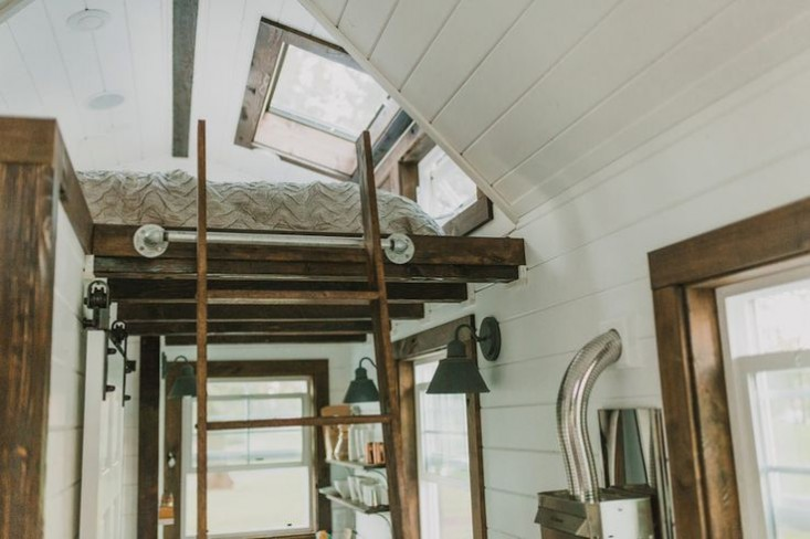 Tiny Luxe House on Wheels bedroom loft