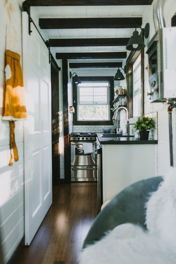 Tiny Luxe House on Wheels kitchen