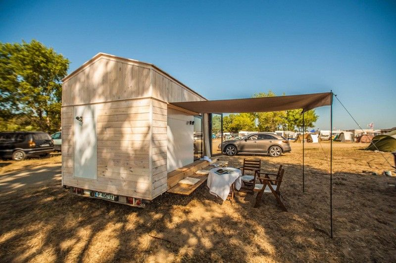 Tiny Vacation Home On Wheels Back