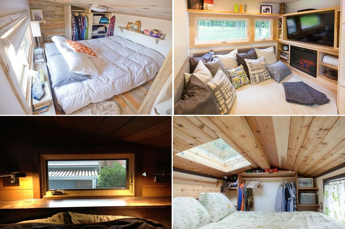 Tiny homes on wheels bedrooms