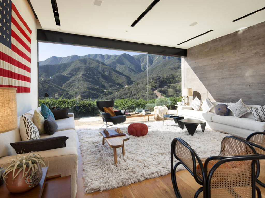 Toro Canyon living room view