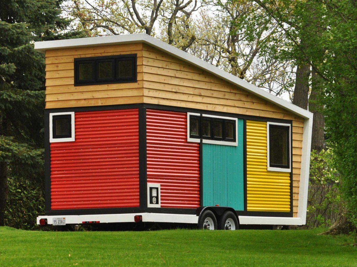 Toy Box Tiny Home on Wheels Angle View