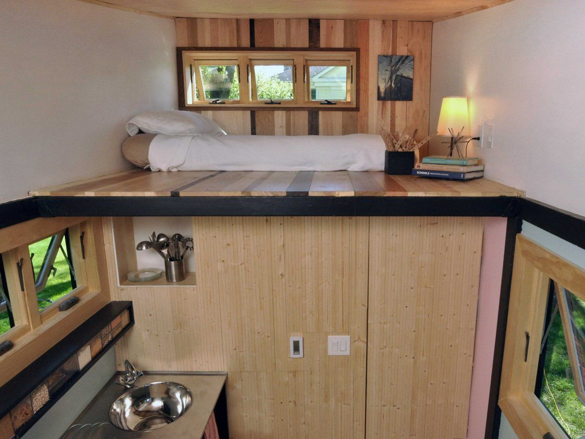 Toy Box Tiny Home on Wheels Bedroom