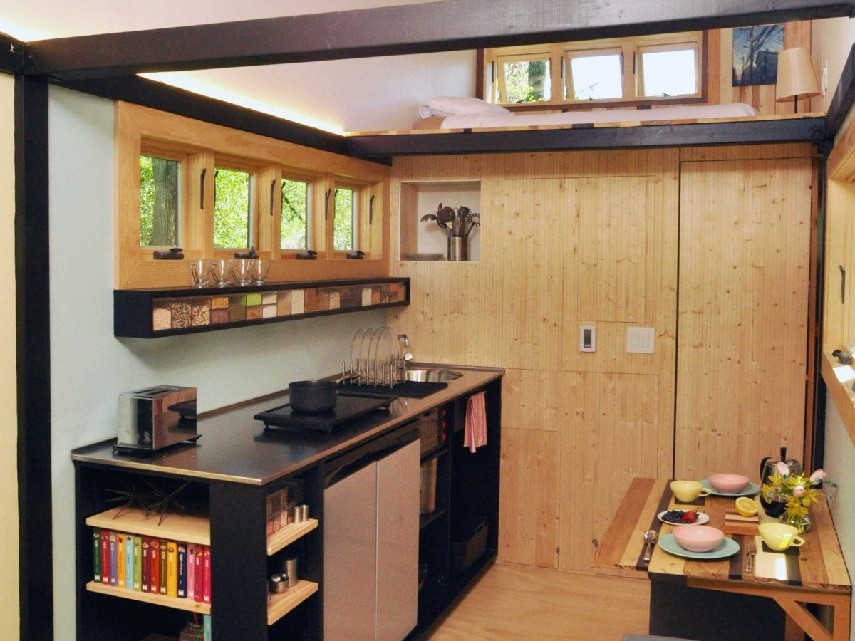 Toy Box Tiny Home on Wheels Kitchen