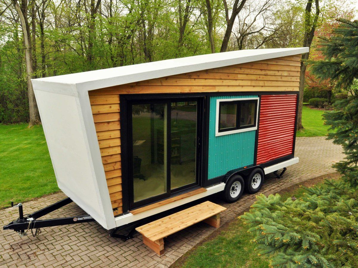 Toy Box Tiny Home on Wheels Parked