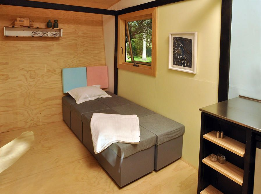 Toybox Tiny Home Modular Furniture Bed. Live a Big Life in a Tiny House on Wheels
