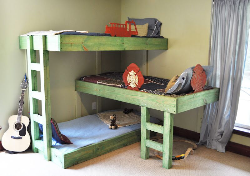 Triple Bunk Beds DIY