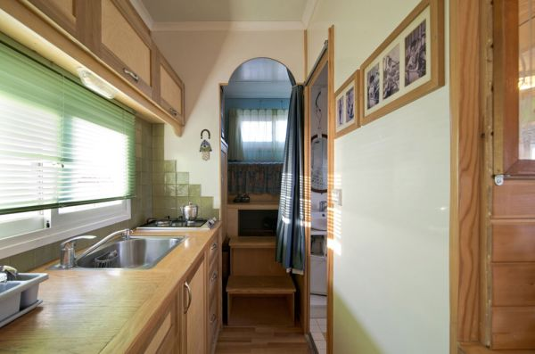 Truck Home on Wheels Kitchen