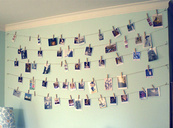 Twine and clothes pins for pictures