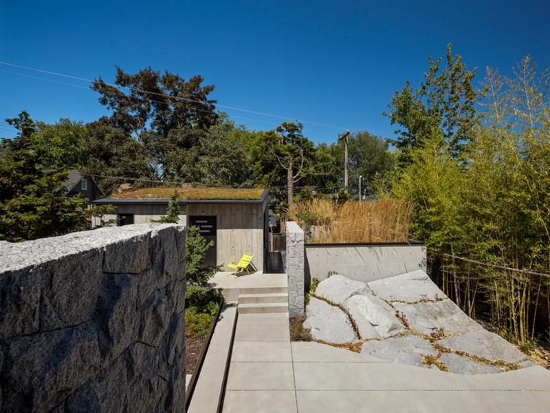 Vancouver grandma house boulder landscap