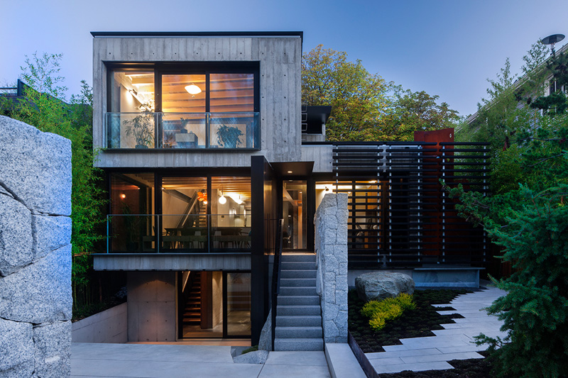 Modern grandma 39 s house in vancouver infused with kid for Precast concrete home designs